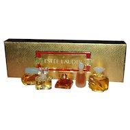 Estee Lauder Set of 5 Miniature Perfumes in Original Box