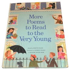 Circa 1968 'More Poems to Read to the Very Young' Oversized Hardcover Children's Book