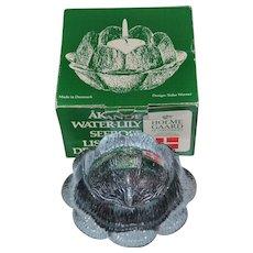 Danish Holmegaard Sidse Werner Medium Water Lily Figural 'Åkande' Votive Bowl