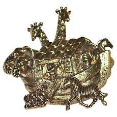 AVON Noah's Ark Detailed Goldtone Brooch/Pin