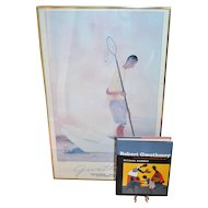 "Robert Gwathmey 30"" SOFT CRABBING Guild Hall Museum Framed Art Exhibition Poster w/ BONUS"