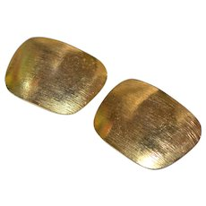 Stylish Textured Goldtone Shoe Clips