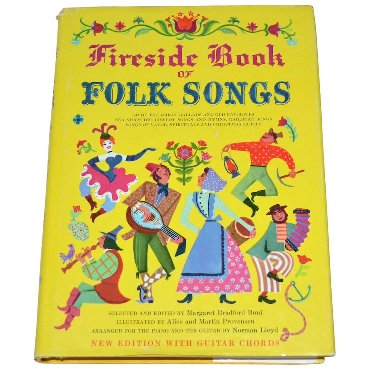 Fireside Book Of Folk Songs Hardcover Songbook W Dj Guitar Chords