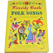 Fireside Book of Folk Songs Hardcover Songbook w/ DJ Guitar Chords Edition