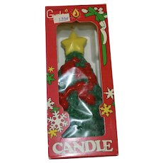 Sealed Gurley Christmas Tree Figural Candle in Original Box