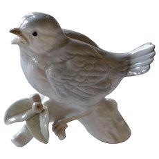 Otagiri Porcelain Sparrow Bird on Branch Figurine Original Label