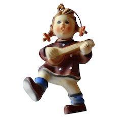 Kurt Adler Hummel Style Girl Playing Mandolin Christmas Ornament