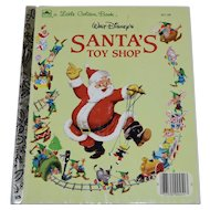 Walt Disney's Santa's Toy Shop Little Golden Hardcover Book