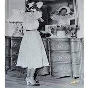 RARE Original Iconic R.C. HICKMAN 'African-American Lady in Mirror' Black & White 8x10 Photograph