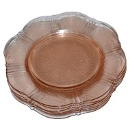 MacBeth-Evans American Sweetheart Set of 7 Pink Depression Glass Salad Plates