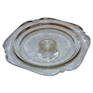 Depression Glass Pedestal Cake Plate Stand