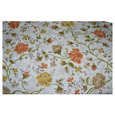 JC Penney Orange & Yellow Rose Twin Flat & Fitted Sheet Set ~ 2 Available