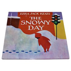 1962 The Snowy Day Illustrated Hardcover Children's Book by Ezra Jack Keats