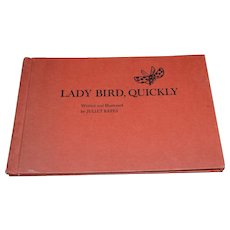 """1964 """"Lady Bird, Quickly"""" First Edition Children's Hardcover Book by Juliet Kepes"""