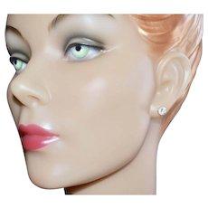 14K Gold 2 Carat Cubic Zirconia Stud Earrings