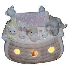 1989 Enesco Noah's Ark Porcelain Night Light