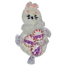 White Crochet Easter Bunny Rabbit Candy or Egg Holder