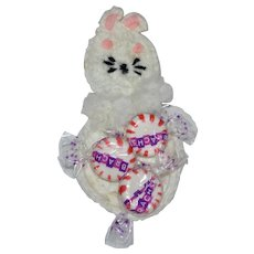 White Crochet Easter Bunny Rabbit Candy or Egg Holder