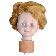 Cute Orange Auburn Annie Style Short Hair Doll Wig