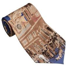 Museum Gallery Benjamin Franklin & Philadelphia Society 'Slavery Abolition' Pure Silk Men's Neck Tie