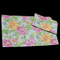 Ralph Lauren Made in USA Set of 2 Hibiscus Flower Standard Pillowcases