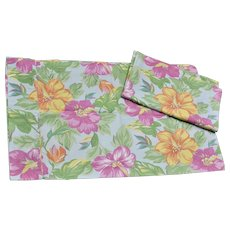 Ralph Lauren Made in USA Set of 2 Hibiscus Flower Standard Pillowcases