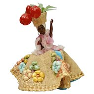 "1950s ""Chiquita"" Souvenir Black Doll from St. Thomas, Virgin Islands"