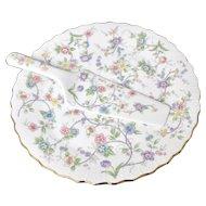 "Andrea by Sadek ""Corona"" Porcelain 10"" Cake Plate & Server"