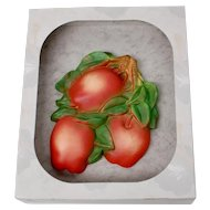 "Miller Studio ""Orchard's Bounty"" Apple  Chalkware Kitchen Wall Plaque Decor"