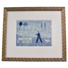 "Signed Paula McArdle ""Proposal"" Original Silkscreen Limited Edition Framed Art Print"