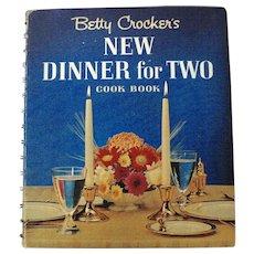 1964 Betty Crocker's New Dinner For Two Hardcover Illustrated Cookbook