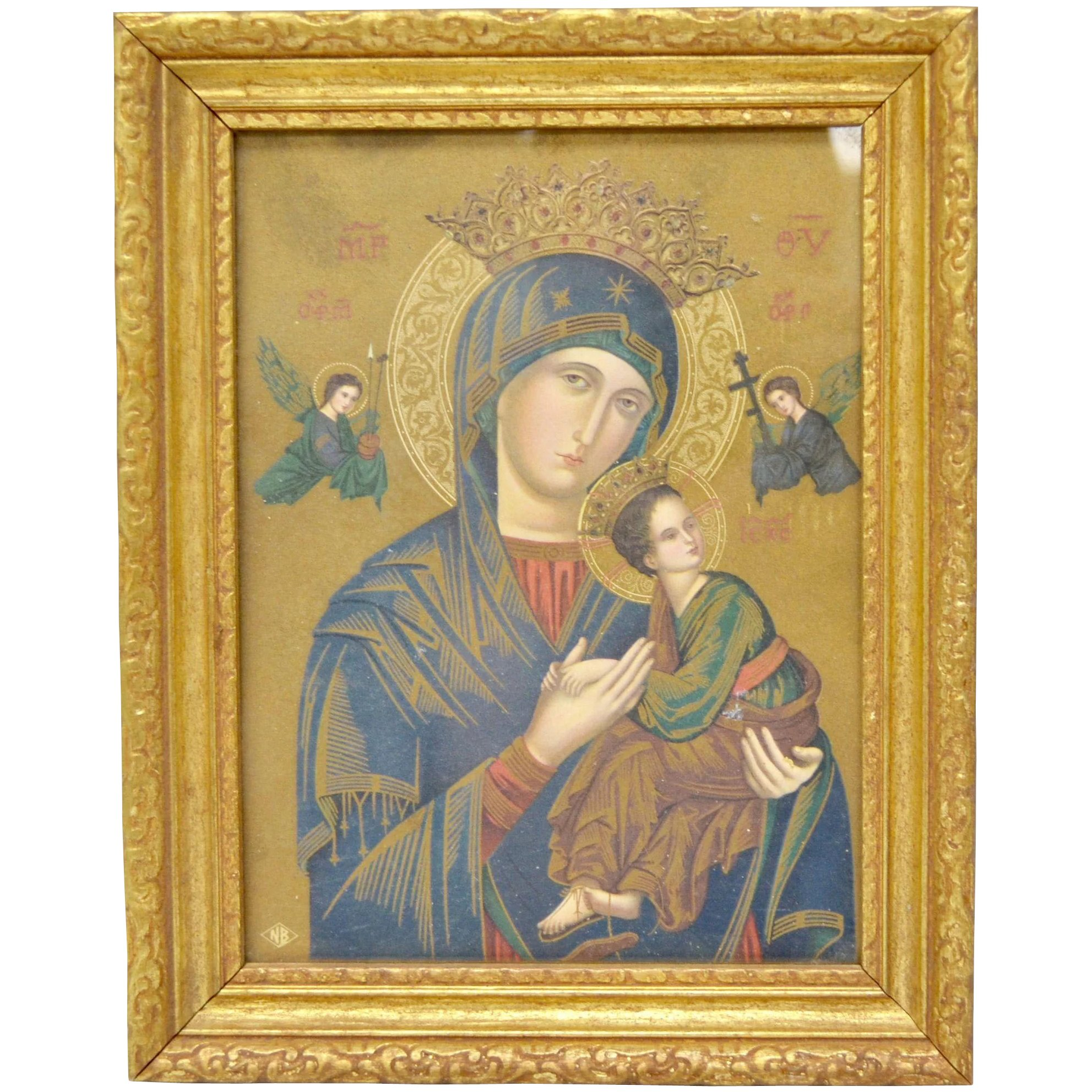 Our Mother/Lady of Perpetual Help Virgin Mary and Child Framed Art ...