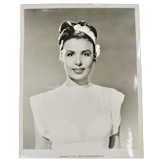 "1974 Lena Horne B&W 8"" x 10"" MGM Photo Studio Still"