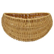 "Large 18"" Woven Wicker Buttock Basket Without Handle"