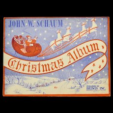 Circa 1945 John W. Schaum Christmas Album Illustrated Piano Songbook