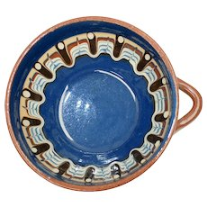 Handcrafted Clay Pottery Southwestern Style Rotund Vase With Handle