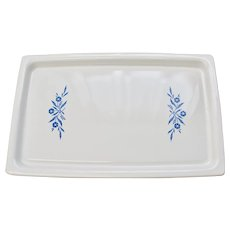 "Corning Ware Cornflower Blue Large 16""  Broil Bake Tray or Cookie Sheet"