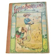 """Early 1900s """"Little Sunbeams"""" Illustrated Children's Hardcover Book"""