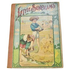 "Early 1900s ""Little Sunbeams"" Illustrated Children's Hardcover Book"