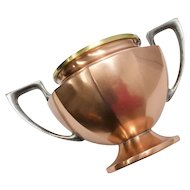 Universal Signed Copper, Brass & Pewter Urn Style Open Sugar Bowl