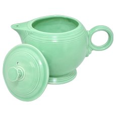 Fiesta Fiestaware Homer Laughlin Original Green Large Teapot with Lid