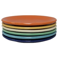 Fiesta Fiestaware Homer Laughlin Bread & Butter Assorted Color Plate Set