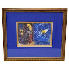 Marc Chagall Le Songe de Jacob (Jacob's Dream) Art Print w/ Wood Frame