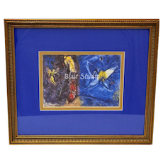 Marc Chagall Le Songe de Jacob (Jacob's Dream) Art Print w/ Wood Frame