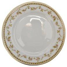 Set of 4 Theodore Haviland Limoges France Set of 4 Pink Roses Salad Plates w/ Gold Trim