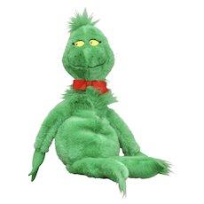 "Circa 1997 Dr. Seuss GRINCH Who Stole Christmas Plush Stuffed 28"" Doll"