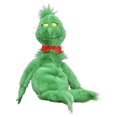 "Circa 1997 Dr. Seuss GRINCH Who Stole Christmas Plush Stuffed 28"" Doll"