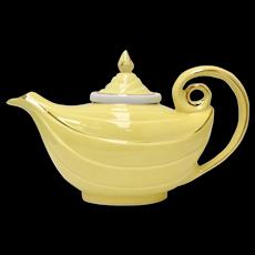 Mint Condition HALL China Bright Yellow Aladdin Lamp Teapot w/ Original Lid & Infuser