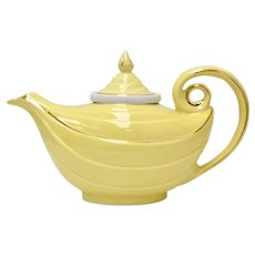 Mint Condition HALL China Bright Yellow Aladdin Lamp Teapot w/ Original Lid & Infuser