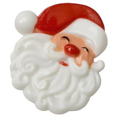 "Hallmark ""Jolly Santa Claus"" Plastic Christmas Pin"